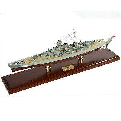 German Battleship Bismarck Desk Top Display 1/350 War Ship WWII Navy Boat Model
