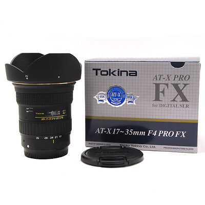 Tokina AT-X PRO 17-35mm f/4 SD MF AS FX AF IF Lens For For Canon Camera Lenses