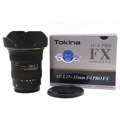 Tokina At-x 17-35 F4 Pro Fx (canon) W/free Hoya Nxt Uv Filter