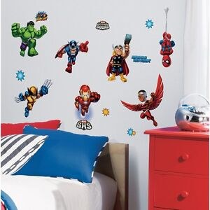 29-New-SUPER-HERO-SQUAD-WALL-DECALS-Marvel-Room-Stickers-Boys-Bedroom-Decor