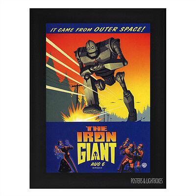 THE IRON GIANT Framed Film Movie Poster A4 Black Frame