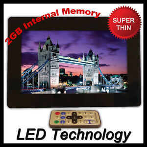New 10 Inch LED Digital Photo Frame Media Player DIVX Picture Solid Black lcd
