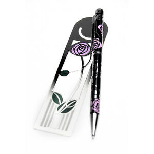Sea-Gems-Gift-Boxed-Mackintosh-Rose-Bud-Bookmark-Pen-Set-0920