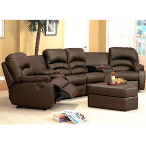 Leather Sectional Recliner in Sofas, Loveseats, and Chaises | eBay