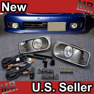 99-00-Honda-Civic-EK-Front-Bumper-Side-Fog-Light-Clear-Cover-Harness-Switch-JDM