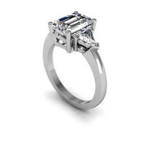 1-80-Ct-Emerald-Cut-3Stone-Diamond-Engagement-Ring-Non-Enhanced-Size-Selectable