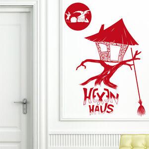 Wandtattoo-Hexenhaus-Hexe-Besen-Halloween-Hexenkuche-Kuche-Witch-35-x ...