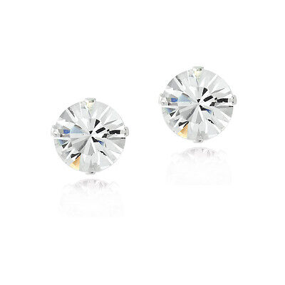 925 Silver 6mm Stud Earirngs Made with Swarovski Elements