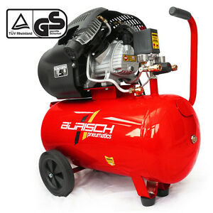 Burisch Air Compressor 3HP 50L 50 ltr litre 14CFM V-Twin NEW
