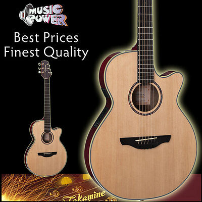 Takamine EG568C Acoustic Electric Guitar Thinline Natural - Spruce Top & Gig Bag on Rummage