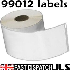 10-Rolls-99012-Dymo-Seiko-Compatible-260-white-Thermal-labels-per-roll-36-x-89mm