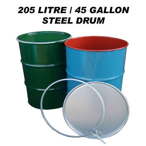 205 Litre 45 Gallon Steel Drum Barrel Container For