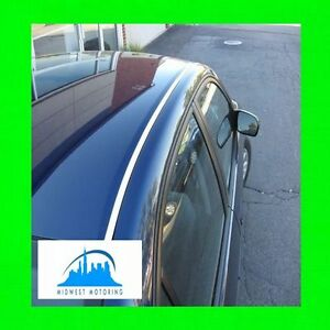 2001 2005 honda civic chrome roof trim moldings 2pc w 5yr for 2001 honda civic window trim
