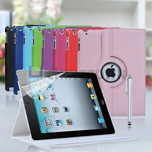 New-iPad-3-360-Rotating-Leather-Case-Smart-Cover-Stand-Apple-iPad-2-3rd-9-color