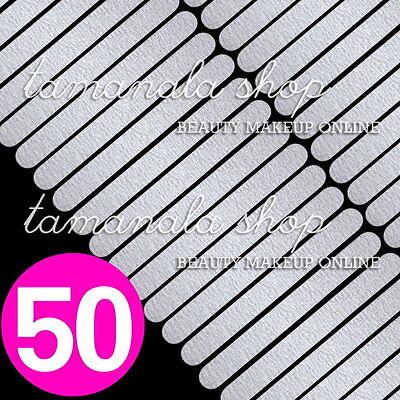 50 Pcs Nail Art Sanding Files Buffing GREY Round Manicure Salon Tool #100 #180