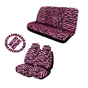 Pink And Black Zebra Seat Covers Ebay