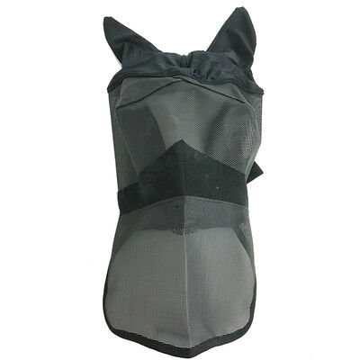 Z121 Horse Full Face Fly Veil Protect Face Cover Full Size Adjustable fastening