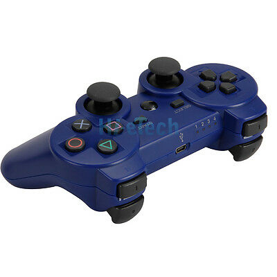 Bluetooth  Wireless Controller for Sony PS3 Playstation 3 Blue Free Shipping on Rummage