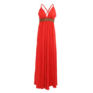 BNWT Ladies Firetrap Bella Maxi Dress in Vermilli, Various Sizes, RRP £125