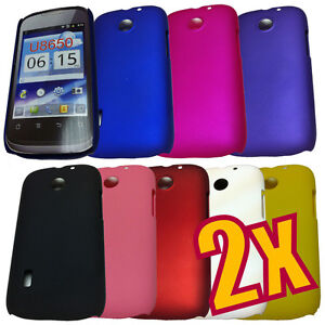 2x Hard Back Cover Case for Huawei U8650 Sonic