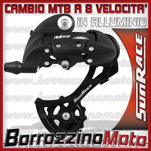 CAMBIO-CICLO-MTB-SUNRACE-8-VELOCITA-BRACCIO-ALLUMINIO-BICI-CICLO-BICLETTA