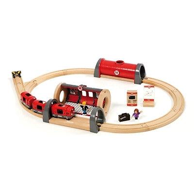 Brio Metro Railway Set Wooden Train Engine Thomas Compatible 33513