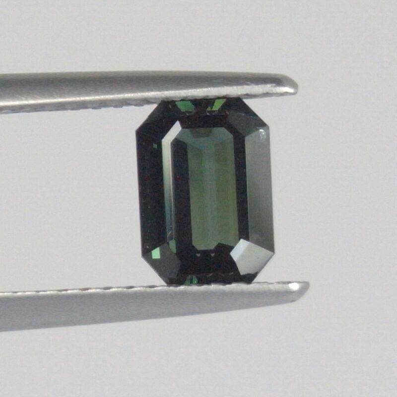 GS013 / 1.25 cts. IF 100% Natural Thai Green Sapphire WOW!! RARE!!
