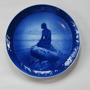 """Royal Copenhagen Christmas Plate from 1962 """"The Little Mermaid"""""""