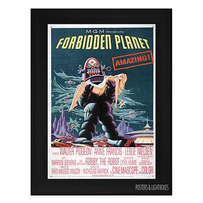 THE FORBIDDEN PLANET Framed Film Movie Poster A4 Black Frame