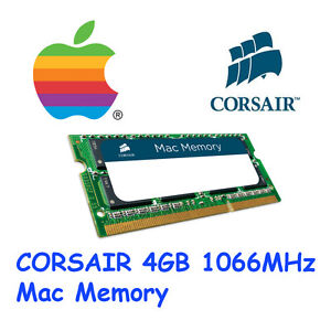 Corsair 4GB MAC memory 1066Mhz C7 DDR3 SODIMM DIMM Apple iMac MacBook Pro MBP