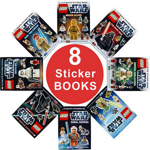star wars lego sticker book collection 8 books 50 stickers in each book ebay. Black Bedroom Furniture Sets. Home Design Ideas