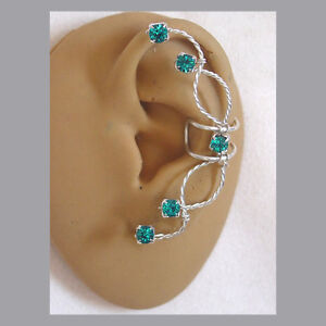 Single-Swarovski-Rhinestone-Ear-cuff-in-Blue-Zircon-and-sterling-silver