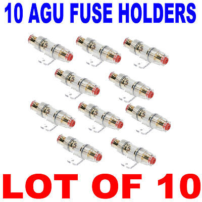 10 Agu Fuse Holder For 8 Ga Or 10 Gauge Power Cable Holders Ships Fast From Usa
