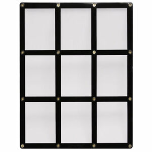 Ultra-Pro Black Frame 9-Card Holder for Trading and Collectors Cards - NEW