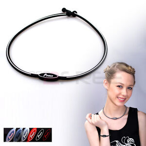 New-Titanium-Healthy-Power-Ion-Outdoor-Sports-Necklace-Balance-Body-Free-Ship
