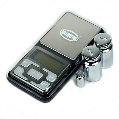 300g x 0.01g Digital Pocket Precision Scale with calibration weights