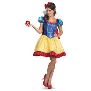 Adult disney fairy tale princess seven dwarf sassy sexy snow white dress costume - Costume princesse disney adulte ...