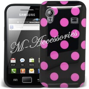 NEW POLKA DOT DOTS GEL CLIP ON CASE COVER SKIN FOR ALL MAJOR MOBILE PHONES