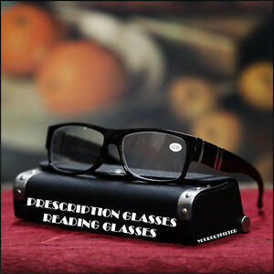 NEW-MENS-WOMENS-PRESCRIPTION-READING-GLASSES-STYLISH-EYEWEAR-BLACK-CLEAR-LENS
