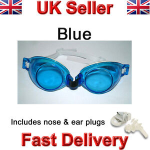 Kids swimming goggles pool swim glasses child childrens boy girl nose & ear plug