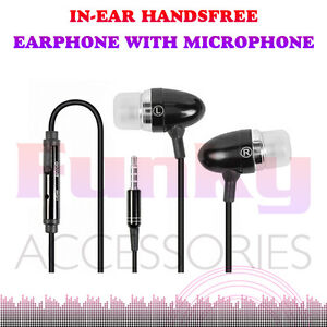 BLACK-HANDSFREE-HEADSET-HEADPHONE-MICROPHONE-FOR-Huawei-Ascend-D2