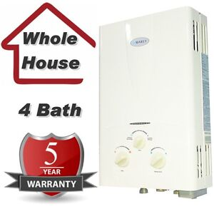 natural gas tankless hot water heater instant on demand 4 3 gpm marey ebay. Black Bedroom Furniture Sets. Home Design Ideas
