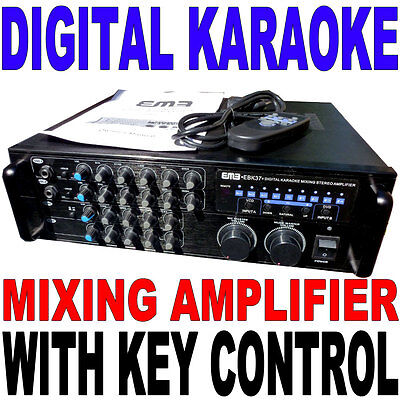 EMB EBK37 Digital Karaoke Mixing Stereo Amplifier 700 W Max Remote Key Control  on Rummage
