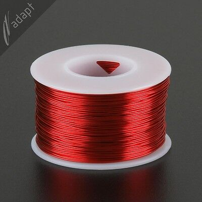 Magnet Wire, Enameled Copper, Red, 23 AWG (gauge), 155C, ~1/2 lb, 313ft