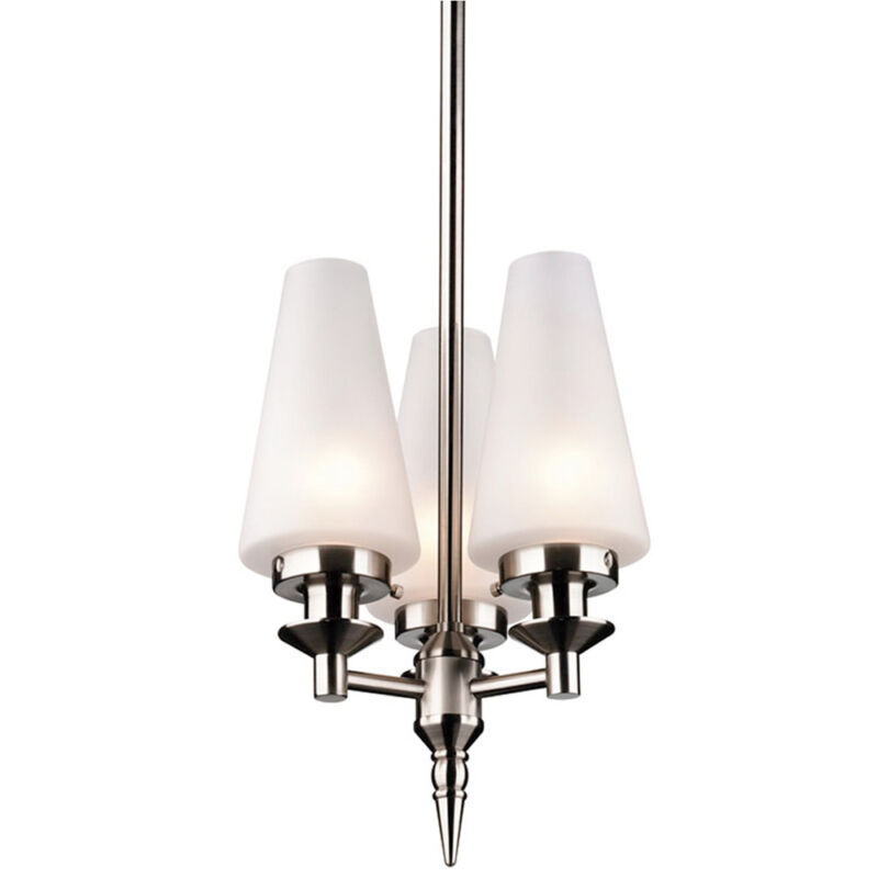 Satin Nickel Or Brushed Nickel Or Wrought Iron Chandelier
