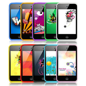 NEW 10 PCS Different Colors Silicone Back Case Cover for iPod Touch 4th Gen 4G