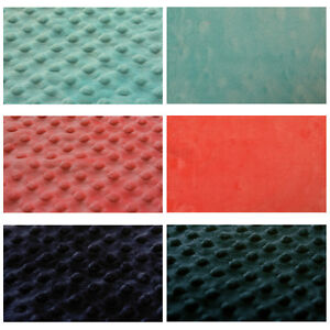 MINKY-MINKEE-SOFT-CHENILLE-FABRIC-RAISED-DIMPLE-EMBO-DOTS-MATCHING-SOLID-60-W