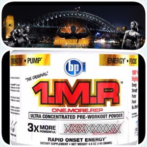 BPI SPORTS 1 MR PRE WORKOUT 1.MR BLUE RASPBERRY 140G ONE MORE REP FREE POST AUS