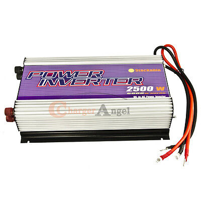 Stackable 2500w Power Inverter 12v Dc To 110v Ac Watt 5000w