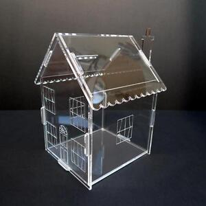 ACRYLIC HOUSE MONEY SAVINGS PETTY CASH BOX PIGGY BANK UK MADE BY CLASSIKOOL